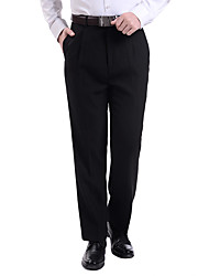 Men's Mid Rise Micro-elastic Business Pants,Vintage Loose Solid