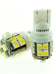 Sencart t10 ba9s 20x2835smd led blanc 6500k 80-120lm feux de frein / feu arrière ac / dc12v