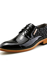 Men's Oxfords Formal Shoes Patent Leather Wedding Office & Career Party & Evening  Red Black Walking Shoes
