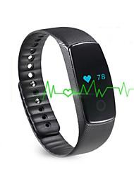 Yym01 pulsera elegante de la mujer de los hombres / smarwatch / monitor del ritmo cardíaco sm wristband pantalla del color del monitor del