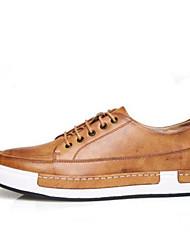 Herren-Sneakers Frühling Komfort PU Casual Erde gelb grau schwarz