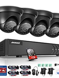 Annke® 8ch 1080n dvr 720p hd система видеонаблюдения система безопасности ir cut водонепроницаемый монитор p2p 1tb