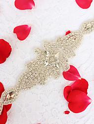 Alloy Wedding Party/ Evening Dailywear Sash-Sequins Beading Rhinestone Sequins Beading Rhinestone