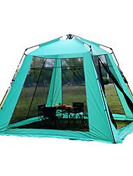 5-8 Personen Zelt Einzeln Falt-Zelt Einzimmer Camping Zelt 2000-3000 mm Oxford GlasfaserFeuchtigkeitsundurchlässig Wasserdicht