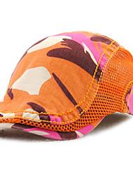 Men's Cotton Beret Hat Peaked Cap Vintage Casual Camouflage Print Summer All Seasons Black/Grey/Blue/Orange/Brown
