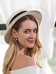 Papel Cestería Red Celada-Boda Ocasión especial Casual Oficina Sombreros 1 Pieza