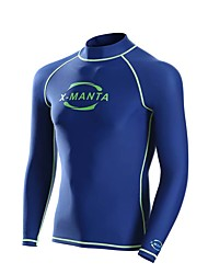 Men's Wetsuit Top Breathable Quick Dry Neoprene Diving Suit Long Sleeve Tops-Diving Spring Summer Fashion Black Blue