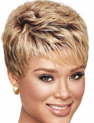 Short Brown Straight Women Synthetic Wigs Fiber Cheap Cosplay Party Wig Hair