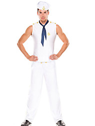 Stylish Men White Polyester Navy Uniform