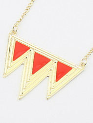 Sweet Candy Color Pendant Chain Necklace Women Office Lady Jewelry for Women Gifts for the Party