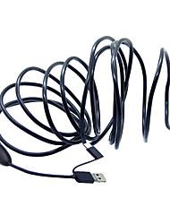 3 в 1 6 светодиодов 7 мм 5 м андроид эндоскоп ogg микро usb жесткой проводной камеры наблюдения ip66