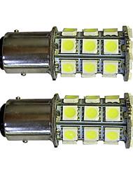 2pcs 1157 27 * 5050smd conduit voiture ampoule lumière blanche dc12v