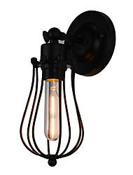QSGD AC220V-240V 4W  E27 Led Light Painted Steel Wall Lamp Dumb Black American Coffee Decoration Retro Wall Light Lightsaber Lamp On Wall