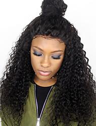 8a grau lace front perucas de cabelo humano kinky curly para a mulher negra 180% densidade cabelo viril brasileiro glueless wigs com