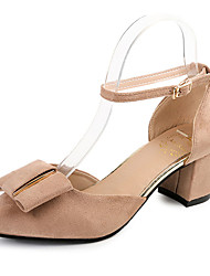 Women's Sandals Spring Comfort Suede Casual Low Heel Buckle