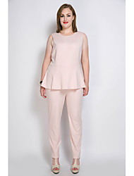 Really Love Women's High Rise Jumpsuits,Sexy Vintage Street chic Straight Ruffle Solid