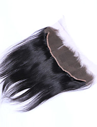16inch braizlian fechamento laço frontal reta melhores virgens brasileiras fechamentos de cabelo humano livre / médio fechamento / 3part