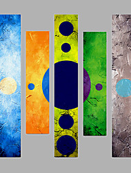 Hand-Painted Modern Abstract Oil Painting Five Panel Canvas Oil Painting Multi Split Oil Painting
