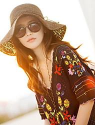 Men Summer Straw Hat Cap Wide Brim Hawaii Folding Soft Sun Hat Casual Foldable Brimmed Beach Hats