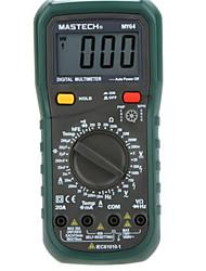 Mastech my64 цифровой мультиметр ac / dc dmm Частотомер емкостный температурный амперметр мультиметрный тестер счетчика w / hfe test