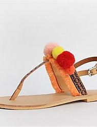 Damen-Sandalen-Lässig-PUKomfort-Gelb Blau