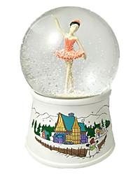 Caixa de música Esfera Decoração Para Festas Resina Unisexo