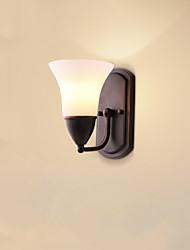 O recurso de acabamento e27 rústico / alojamento óxido preto para parede luz protectionambient olho arandelas luz parede