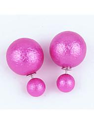 Boucles d'oreille goujon Mode Acrylique Résine Forme Ronde Rouge Rose Rouge Vert Bleu Bleu clair Bijoux Pour Anniversaire Quotidien Bikini