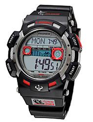 Masculino Relógio Esportivo Quartzo Silicone Banda Preta