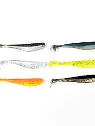 "12 pcs Soft Bait Fishing Lures Soft Bait Shad Black Orange Yellow Gray DarkNavy Silver g/Ounce mm/2-3/4"" inch,Soft PlasticSea Fishing"