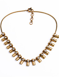 Women's Strands Necklaces Geometric Chrome Unique Design Cute Style Gold Jewelry For Gift Daily 1pc