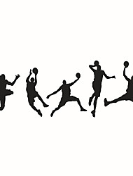 Wall Stickers Wall Decals Style Play Basketball Sports Boy PVC Wall Stickers