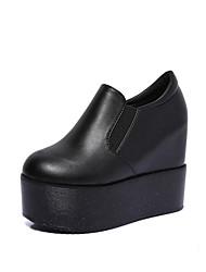 Homme-Extérieure / Décontracté-Noir / Rose / Blanc-Plateforme-A Plateau / Creepers-Sneakers-Similicuir
