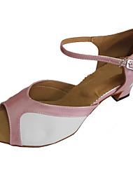 As sandálias latin das mulheres personalizadas dos saltos abrem a sapata da dança do dedo do pé