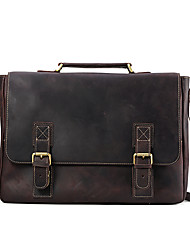 Men Cowhide Casual Office & Career Satchel All Seasons