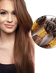 Wholesale Peruvian Women Remy Keratin Nail Tip U tip Human Hair Extensions Straight 1g/strand 100strands #6