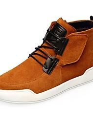 Chaussures de sport pour hommes, printemps, confort, suède, décontracté, marron, gris, noir