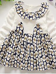 Girl's Beach Solid Dress,Silk Spring Fall Long Sleeve