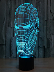 Iron Man 3 D Projection Lamp LED Acrylic Touch Visual Light
