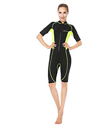 Women's Wetsuit Skin Ultraviolet Resistant LYCRA® Diving Suit Short Sleeve Diving Suits-Swimming Diving Beach Surfing Summer Fall/Autumn