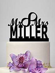 Personalized Acrylic Mr & Mrs Wedding Cake Topper