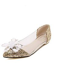 Damen-Loafers & Slip-Ons-Lässig-PULeuchtende Sohlen-Gold Silber