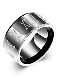 Concise Mixed Color Titanium Steel Eternity Letter Style Band Wedding Ring Jewellery for Women Accessiories