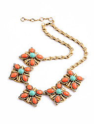 Women's Strands Necklaces Crystal Chrome Euramerican Personalized Adorable Simple Style Orange Jewelry For Wedding Party Congratulations