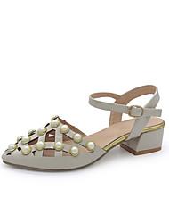 Feminino-Sandálias-Buraco Shoes-Plataforma--Courino-Ar-Livre Social Casual
