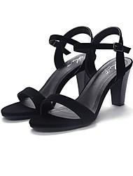 Sandales pour femmes printemps mary jane suède décontracté