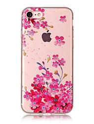 Для яблока iphone 7 7 плюс 6s 6 плюс se 5s 5 5c крышка случая сливы цветение образец hd окрашенный материал tpu imd процесс телефон дела
