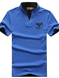 Homme Tee-shirt Camping / Randonnée Pêche Respirable Eté Noir Rouge Gris Jaune Bleu royal