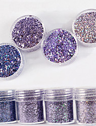 10ml Laser Light Gradient Shimmer Diamond Bright Powder Mix With Sequins Nail Gradient Laser Powder  Nail Art Decoration For Nail Polish
