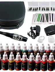 Solong tatouage kit de maquillage permanent tatouage stylo brosse machine à lèvres set 23 encres de maquillage ek708-3
